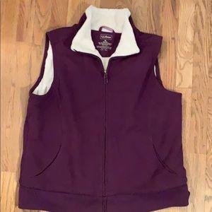 L.L. Bean purple fleece vest XL